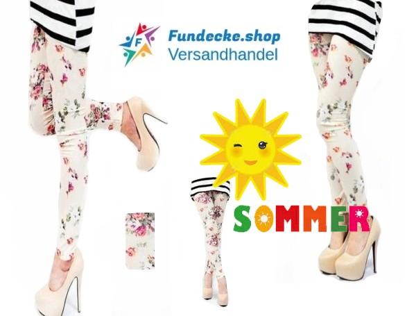 e8486d87639427 Leggings Mädchen mit Blumenmuster Sommer Mode