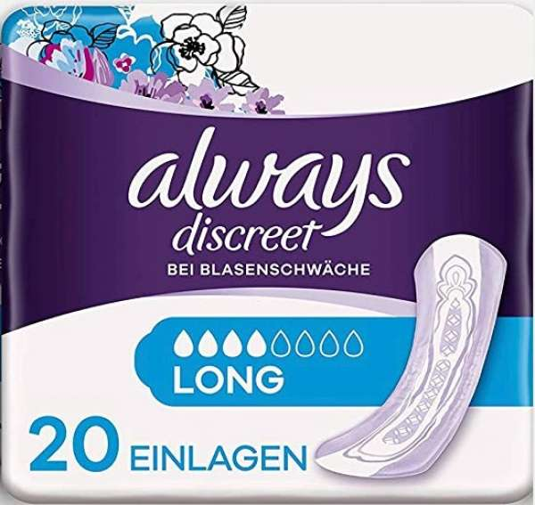 Always discreet long Einlagen