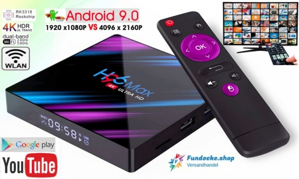 H96 MAX Android 9.0 TV Box