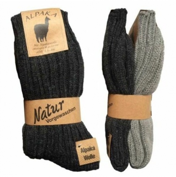 Alpaka Socken, Wollsocken Winter